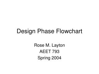 Design Phase Flowchart