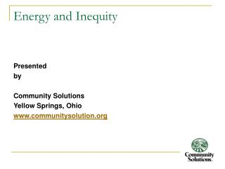 Energy and Inequity