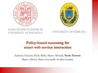 Policy-based reasoning for  smart web service interaction