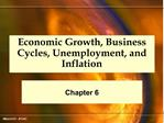 Economic Growth, Business Cycles, Unemployment, and Inflation