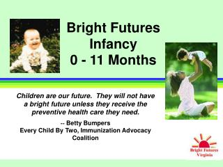 Bright Futures Infancy 0 - 11 Months
