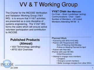 VV & T Working Group