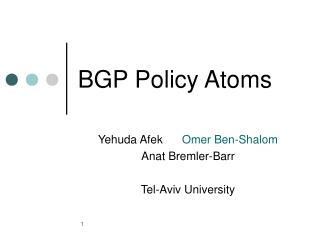 BGP Policy Atoms