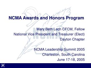 NCMA Awards and Honors Program