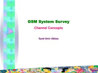 GSM System Survey Channel Concepts Syed Amir Abbas