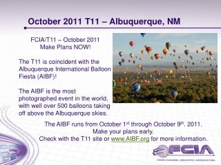 October 2011 T11 – Albuquerque, NM