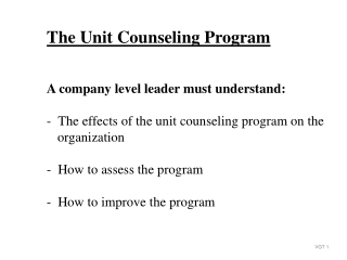 Stages and process of counseling