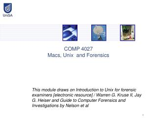COMP 4027 Macs, Unix  and Forensics