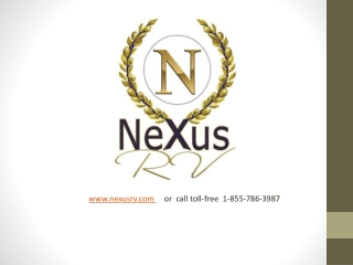 Factory Direct Motorhomes and RVs from NeXus RV