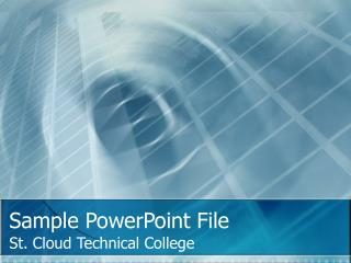 Sample PowerPoint File