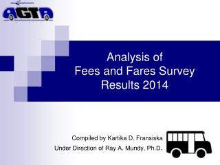 Analysis of Fees and Fares Survey Results 2014