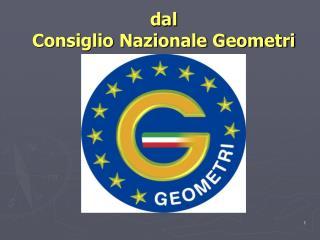 dal Consiglio Nazionale Geometri