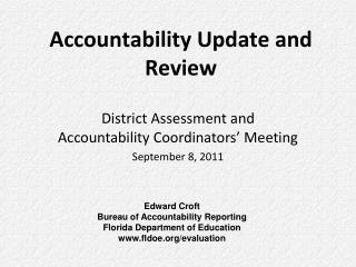 Accountability Update and Review