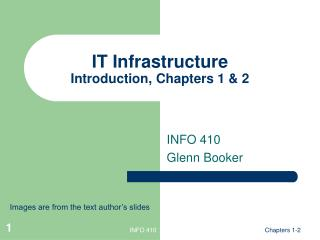 IT Infrastructure Introduction, Chapters 1 & 2