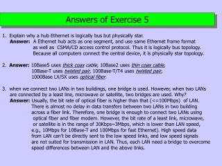 Answers of Exercise 5