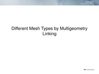 Different Mesh Types by Multigeometry Linking