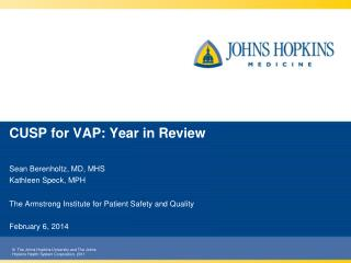 CUSP for VAP: Year in Review