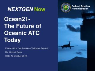 Ocean21- The Future of Oceanic ATC Today