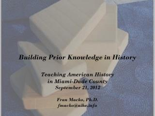 Building Prior Knowledge in History