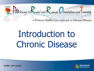 Introduction to Chronic Disease