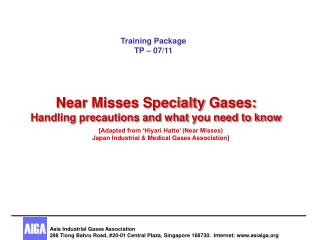 Near Misses Specialty Gases: Handling precautions and what you need to know