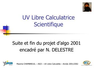 UV Libre Calculatrice Scientifique