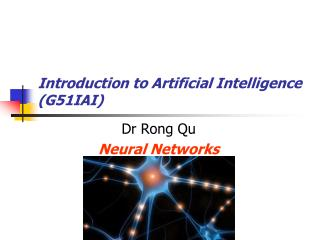 Introduction to Artificial Intelligence (G51IAI)