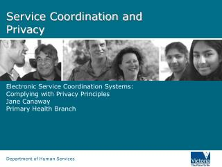 Service Coordination and Privacy