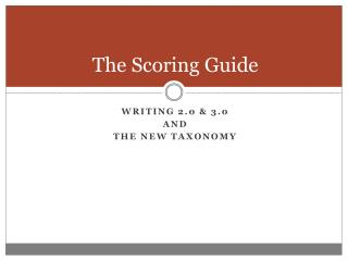 The Scoring Guide