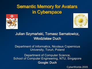 Semantic Memory for Avatars  in Cyberspace