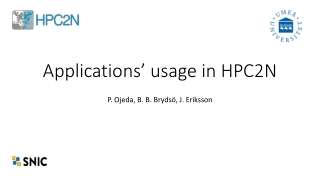 Applications' usage in HPC2N