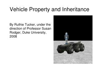 Vehicle Property and Inheritance