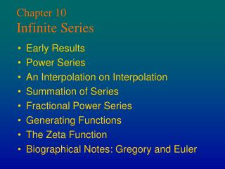 Chapter 10 Infinite Series