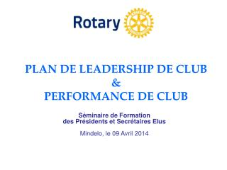 PLAN DE LEADERSHIP DE CLUB & PERFORMANCE DE CLUB