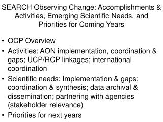 OCP Overview