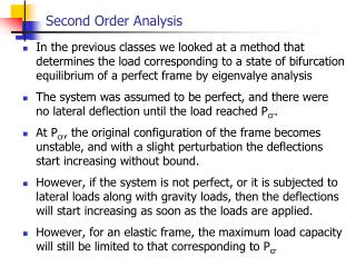 Second Order Analysis