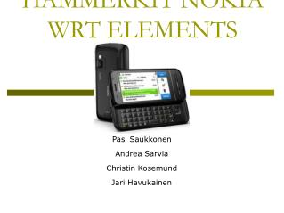 HAMMERKIT NOKIA WRT ELEMENTS