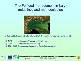 The Po  flood  management in Italy: guidelines  and  methodologies