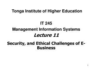 Tonga Institute of Higher Education