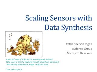 Scaling Sensors with  Data Synthesis