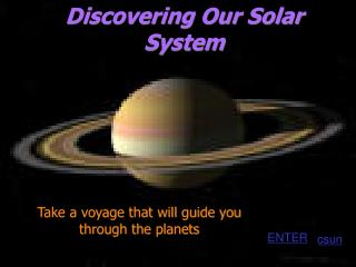 Discovering Our Solar System