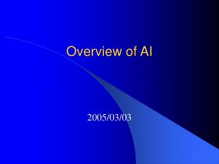 Overview of AI