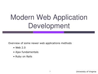 Modern Web Application Development