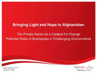 Bringing Light and Hope to Afghanistan