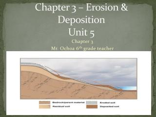 Chapter 3 – Erosion &  Deposition Unit 5