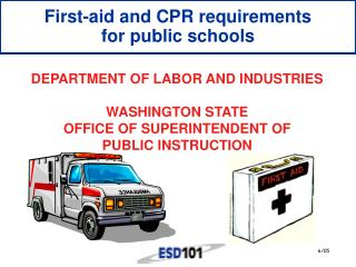 First-aid and CPR requirements for public schools
