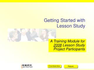 Getting Started with Lesson Study