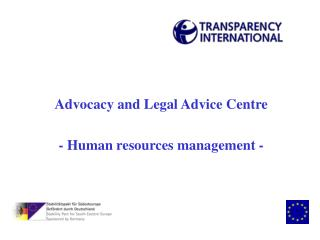 Advocacy and Legal Advice Centre - Human resources management -