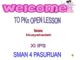 TO PKn OPEN LESSON