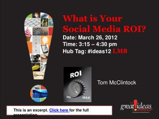 What is your Social Media ROI?